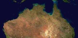 Australia from satellite view