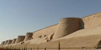 Ancient wall in Uzbekistan